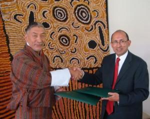 Bhutan and Australia signing of MSA