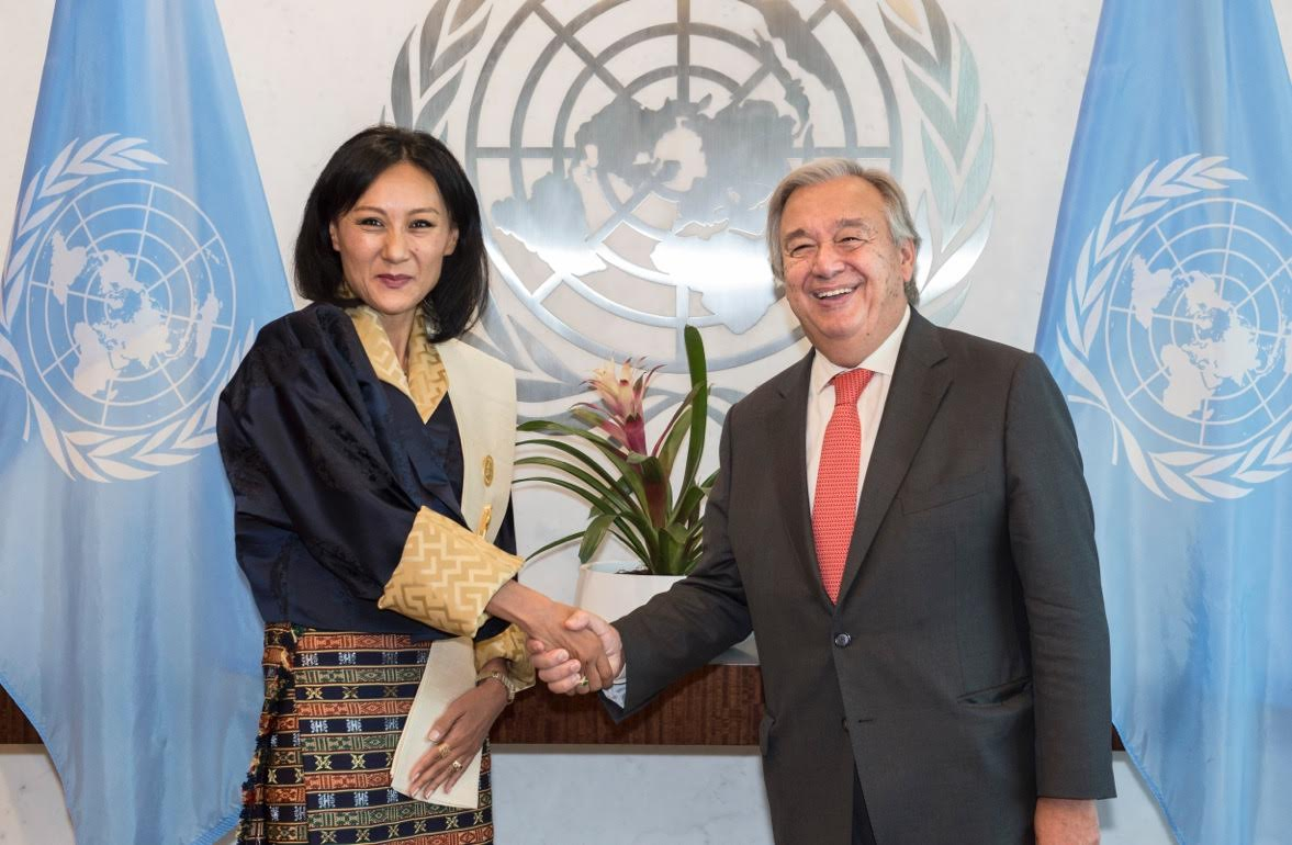 The Newly Ointed Permanent Representative Of Bhutan To United Nations In New York Ambador Doma Tshering Presented Her Credentials Un